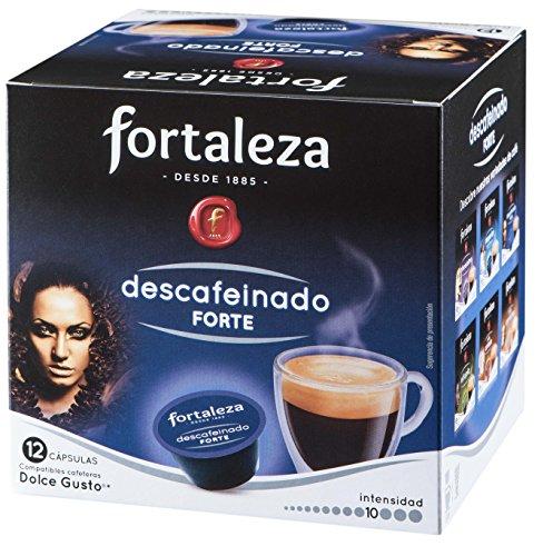 Café Fortaleza – Cápsulas Compatibles con Dolce Gusto, Descafeinado Forte, Sabor Auténtico, Intenso y Aromático, Tueste Natural, Pack 12x3 - Total 36 uds