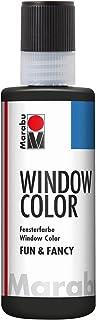 Marabu 04060004873 - Window Color fun & fancy, farba konturowa soft czarny 80 ml, na bazie wody, możliwość usunięcia z gła...
