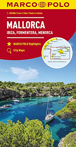 Marco Polo Mallorca, Ibiza, Formentera, Menorca: Wegenkaart 1:150 000