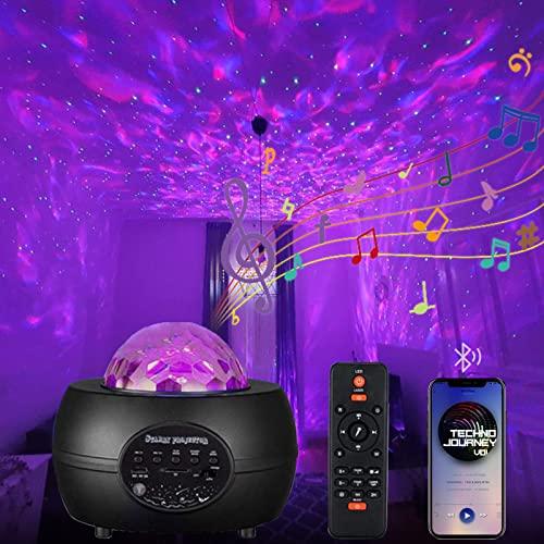 Sternenhimmel Projektor,15 Farben LED Sternenhimmel Projektor kinder Galaxy Projector,Sternenlicht Projektor mit Bluetooth Lautsprecher Fernbedienung,LED projektor für Schlafzimmer Heimkino Party