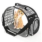 折りたたみ ペットキャリーバッグ 猫 子犬 高通気性 Flaradise 持ち運びに便利 お出かけ用 展開サイズ:42×32×28cm