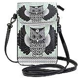 XCNGG Monedero pequeño para teléfono celular Owl Cell Phone Purse Wallet for Women Girl Small Crossbody Purse Bags