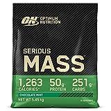 Optimum Nutrition Serious Mass Gainer, Proteine Whey in Polvere per Aumentare la Massa Muscolare con Creatina e Glutammina, Cioccolato Menta, 16 Porzioni, 5.45 kg, il Packaging Potrebbe Variare