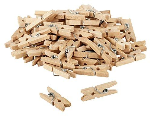Itenga, lot de 80mini pinces à linge décoratives en bois de 2,5cm avec ornement–Dimensions: env. 2,5cm