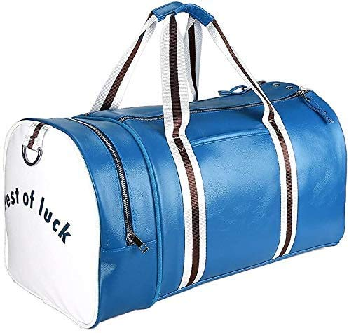 Jeppesen Duffel Bag with Shoe Compartment, PU leather Water Resistant...