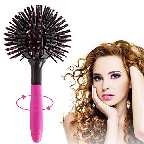 3D Bomb Curl Hair Brush,360° Styling Salon Round Hair Curling Curler Comb Tool,Versatile Brush Can Be Used With a dryer