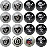 Imperial Officially Licensed NFL Home vs. Away Team Billiard/Pool Balls, Complete 16 Ball Set, Oakland Raiders