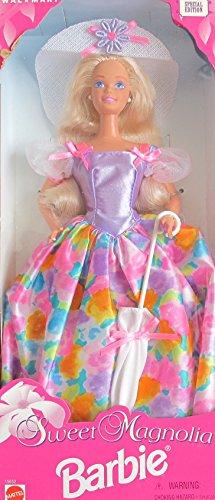 SWEET MAGNOLIA BARBIE DOLL w Sun HAT & UMBRELLA WalMart SPECIAL EDITION (1996)