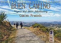 Buen Camino - pilgern auf dem Jakobsweg - Camino Francés (Tischkalender 2022 DIN A5 quer): Der Jakobsweg - endlos lang und beschwerlich, aber auch ein Weg der Kraft und Zuversicht. (Monatskalender, 14 Seiten )