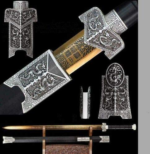 ZPGP HandmadeChineseSharp Selling rankings 1060 Manganese Wushu Kun Sword Steel Max 50% OFF