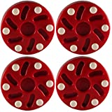TronX S10 Inline Roller Official Hockey Pucks 4 Pack (Red)