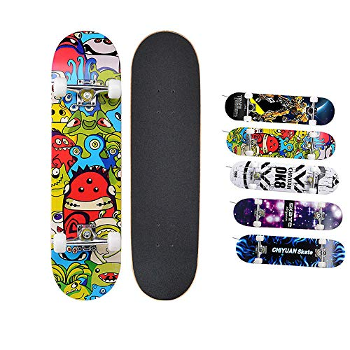 HUADUO Erwachsene Anfänger Sport Penny Skate Board Outdoor komplette Longboard Skateboard für Kinder younth-Mobs