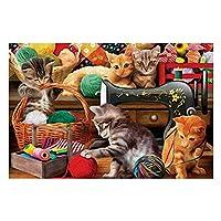 1000 ピース ジグソーパズル 猫のクラフトルーム パズル ャルアートコレクション - 木製パズル 大人 向け