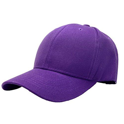 Falari Baseball Cap Adjustable Size Solid Color G001-26-Purple