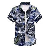 Damen Herren Hawaii Hemd Oversize Kurzarm Männer Blumen Drucken Lässig Oberteil, Button Strand...