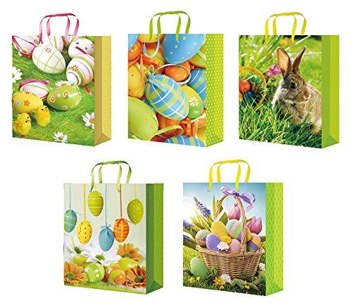 10 Geschenktüten Ostern Osterhase 23x18x10 Geschenktaschen Tragetasche Ostertüten Ostertaschen 13-2021