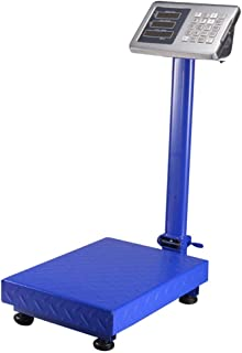 ZJZ Báscula electrónica con Sensor de Alta precisión - Pantalla LED Básculas industriales Grandes a Prueba de Agua Báscula de Taller Plegable Básculas de Acero Inoxidable para Productos agrícolas