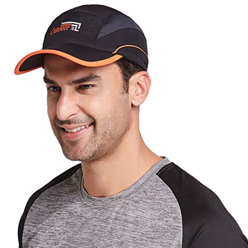 Gisdanchz Black Running Baseball Cap Hat,Sonnenschutz Kopf Schirmmütze Damen Laufmütze Kopfbedeckung,Laufcap Basecap Herren Sommermütze,Outdoor Breathable Summer Sport Hat for Man Women,Schwarz
