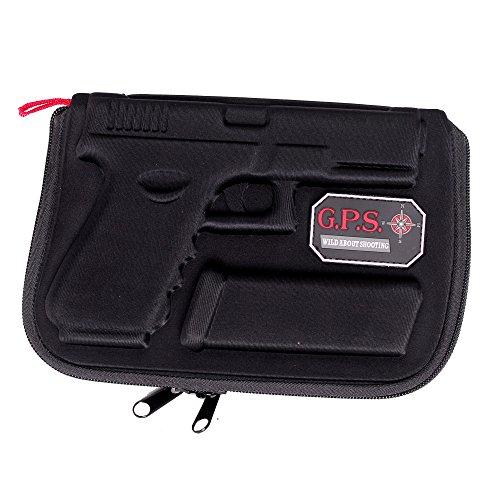 G Outdoors Molded Pistol Case Soft for Glock, Black, Glock Models 17, 19, 22, 23, 26, and 27