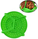 HOME-X Silicone Turkey, Chicken, and Roast Lifter, Non-Stick Vegetable Steamer Insert