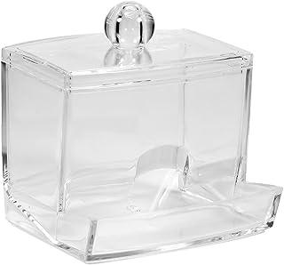 Wandisy Cadeau D'Avril Boîte de Rangement Pratique pour Organisateur de Rangement Transparent pour Coton-Tige, Maquillage ...