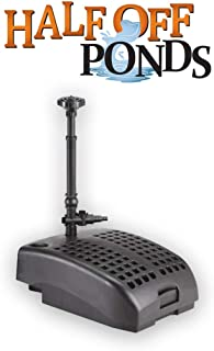 Sting Ray 1200-1,200 Gallon Ponds All-in-One Submersible Filter, Pump, 9-Watt UV Clarifier, and Fountain