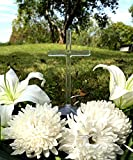 JF Solar Lighted Cross Powered by God's Sunlight Automatically Lights Up at Night - Cemetery and Grave Memorial