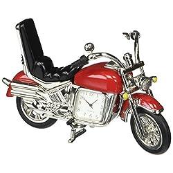 StealStreet SS-KD-3531-RED, 5 Inch Die Cast Metal Hog Motorcycle Analog Quartz Clock, Red, 5