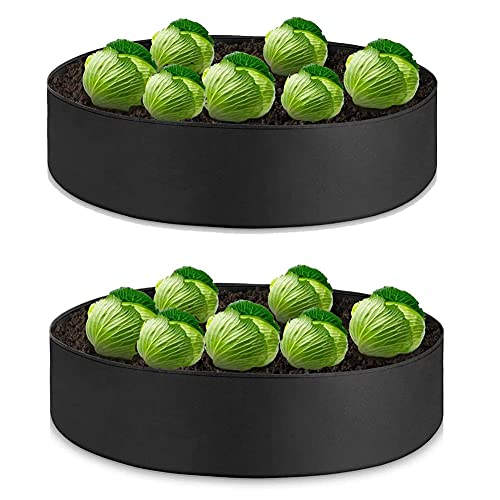 Garden Planters Raised Garden Beds 2 Pack Extra Large 100G Fabric Raised...