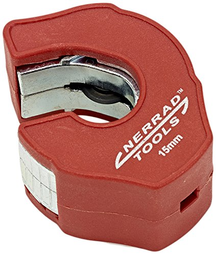 Nerrad Tools NT4035 Adjustable Ratchet Action Copper//INOX Tube Cutter Red//Black 12-35 mm