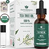 Naturenics Premium 100% Organic Tea Tree Essential Oil -Undiluted Pure...