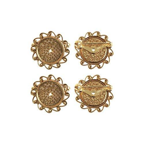 Broche de 10 pièces avec une taille de 3 cm d'or