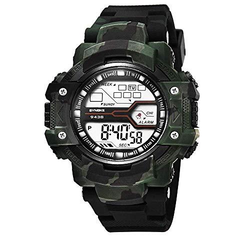 Digitaluhr für Männer, Militär Outdoor Sports Camouflage Uhr wasserdichte Multifunktion Modische Leuchtende Alarm Stoppuhr Elektronische Armbanduhr Geschenk für Mädchen & Jungen