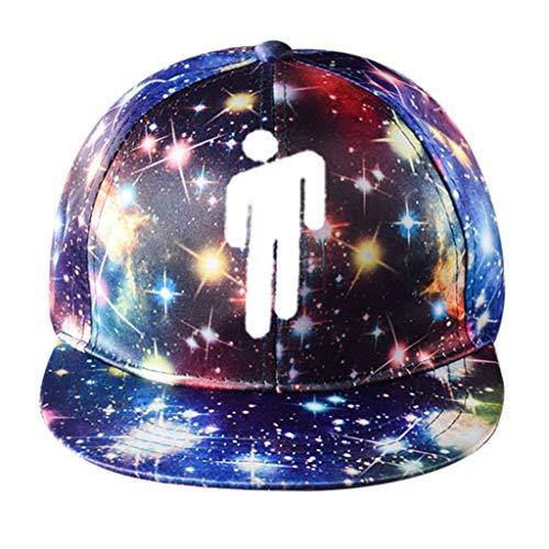 Haptian Baseballkappe, Frauen Männer Teens Hip Hop Mädchen Rapper 3D Digitaldruck Baseball Cap Bunter Sternenhimmel Streetwear Einstellbare Snapback Trucker Hat 1#