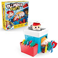 Enhances the plumber! : The Plumber Pants game is a lively fun game for children aged 4 and over. Here a simple game principle is combined with a fun surprise Attention when the trousers slip: the children are in turn and put the tools on the trouser...