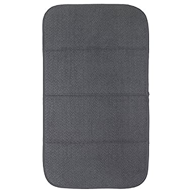 "Premium All-Clad Dual Surface, Reversible Dish Drying Mat for the Kitchen Counter, 1 Absorbent Drying Pad, 16"" x 28"", Pewter"