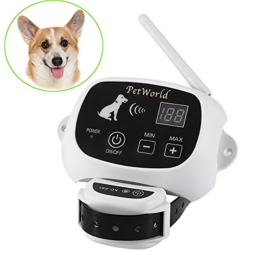 PetWorld 100% Wireless Dog Fence System Outdoor Invisible Pet Containment System Rechargeable Waterproof Collar 550YD Remote (1 Dog System)