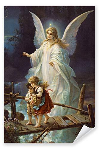 Postereck - Poster 0154 - Schutzengel und Kinder, Altes Gemaelde Engel Religion - Größe DIN - A4 - 21.0 cm x 29.7 cm
