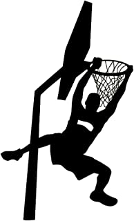 DNVEN Black 22 inches x 38 inches Vinyl Basketball Players Slam Dunk Silhouette Wall Decals Stickers for Boy Rooms Bedrooms