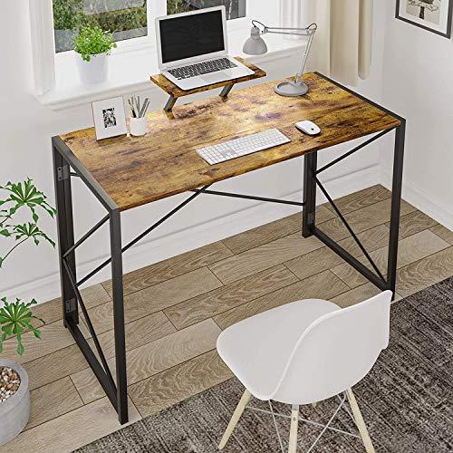 MSmask Bureau Pliable, pour Ordinateur, Petite Table d'étude, pour la Maison et Le Bureau, Peu encombrant (Rétro + Support)