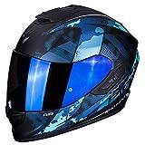 Scorpion - Casco integral EXO-1400 sylex negro mate azul de