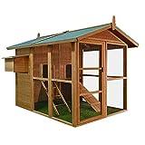 Deuba Hühnerstall Hühnerhaus Stall Kleintier Hühner Hase Huhn Stall Haus Hasenstall Hühnervoliere XXL