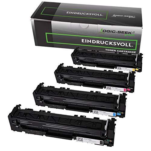 4 Original Logic-Seek Green Toner kompatibel zu HP Color Laserjet Pro 200 M252dw M252n Farblaserdrucker zu CF400A CF401A CF402A CF403A