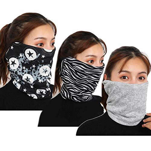 3pcs Floral Face Mask Dustproof Neck Protector Chiffon Neck Gaiter Collar Bandana Scarf Balaclava