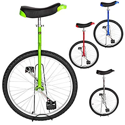 T4B Freestyle Unicycle 24-Inch Wheel - Leakproof Butyl Wheel Tire - Outdoor Sports Fitness Exercise Health - Green