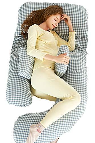Almohada De Embarazo,Almohada Embarazada Dormir En Forma De U,Multifuncional Embarazo Almohada De Cuerpo Completo Para Soporte De Vientre/Caderas/Piernas/Espalda, 4,185 * 120 * 80cm