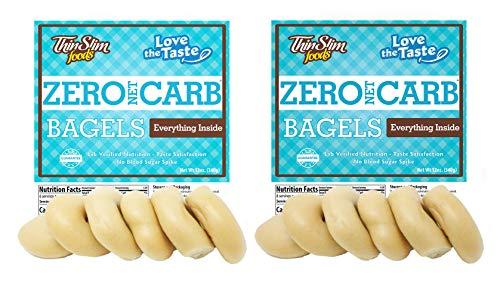 ThinSlim Foods Keto Low Carb Bagels - Everything, 2 Pack (6 Bagels Each)