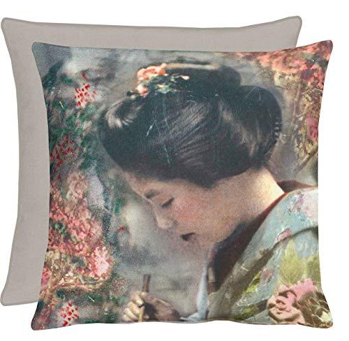 "APELT Geisha_46x46_27 Kissenhülle \"" Geisha China Feeling\"" circa 46 x 46 cm, Fb. 27, bunt"