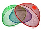 """Bevernia 3 Pack 6.1"""" x 10.75"""" x 10.75"""" Mesh Net Outdoor Food Covers - The Food Covers for Outside and Inside Use Protect Your Food Against Flies & Mosquitoes - Great Picnic & BBQ Accessories"""
