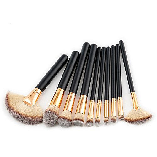 TYJKL Brosse Multifonctions Maquillage Maquillage Brosse de Brosse cosmétiques Eye Brosse 10 en 1 Outils De Maquillage Professionnels (Color : Gray)